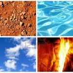 -four-elements-water-fire-earth-and-air-in-one-collage
