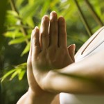 meditation hands clasped